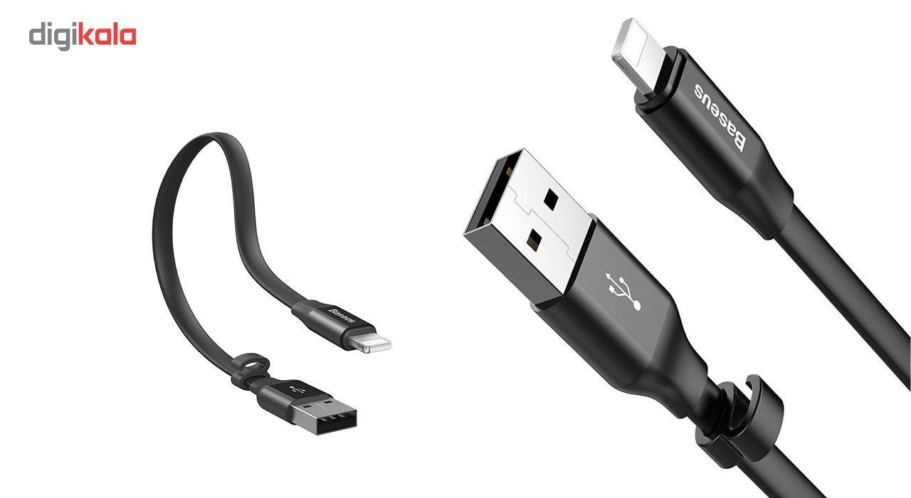 کابل USB به لایتنینگ باسئوس مدل Nimble طول 23 سانتی متر main 1 4