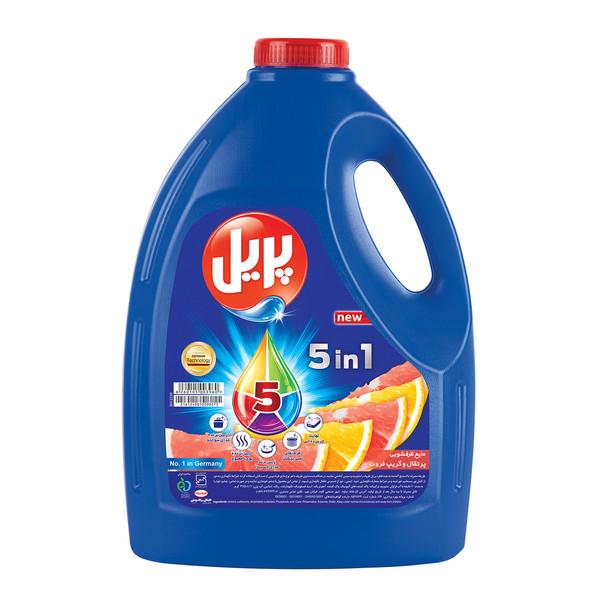 مایع ظرفشویی پریل 5+ با رایحه پرتقال و گریپ فروت مقدار 3.75 کیلوگرم