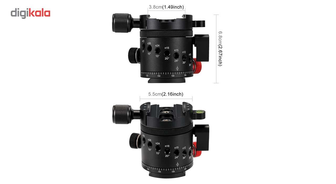 سر سه پایه بال هد پلوز مدل 360Degree مناسب برای دوربین های عکاسی main 1 2