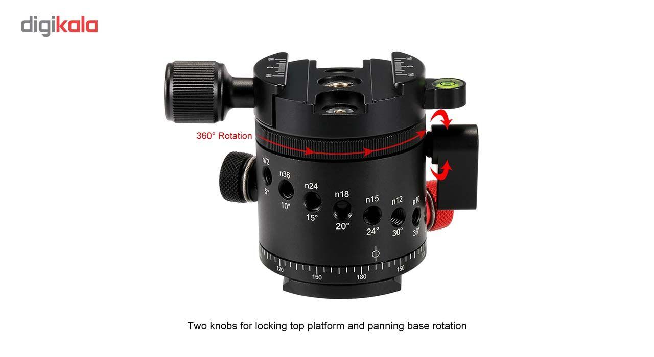 سر سه پایه بال هد پلوز مدل 360Degree مناسب برای دوربین های عکاسی main 1 3