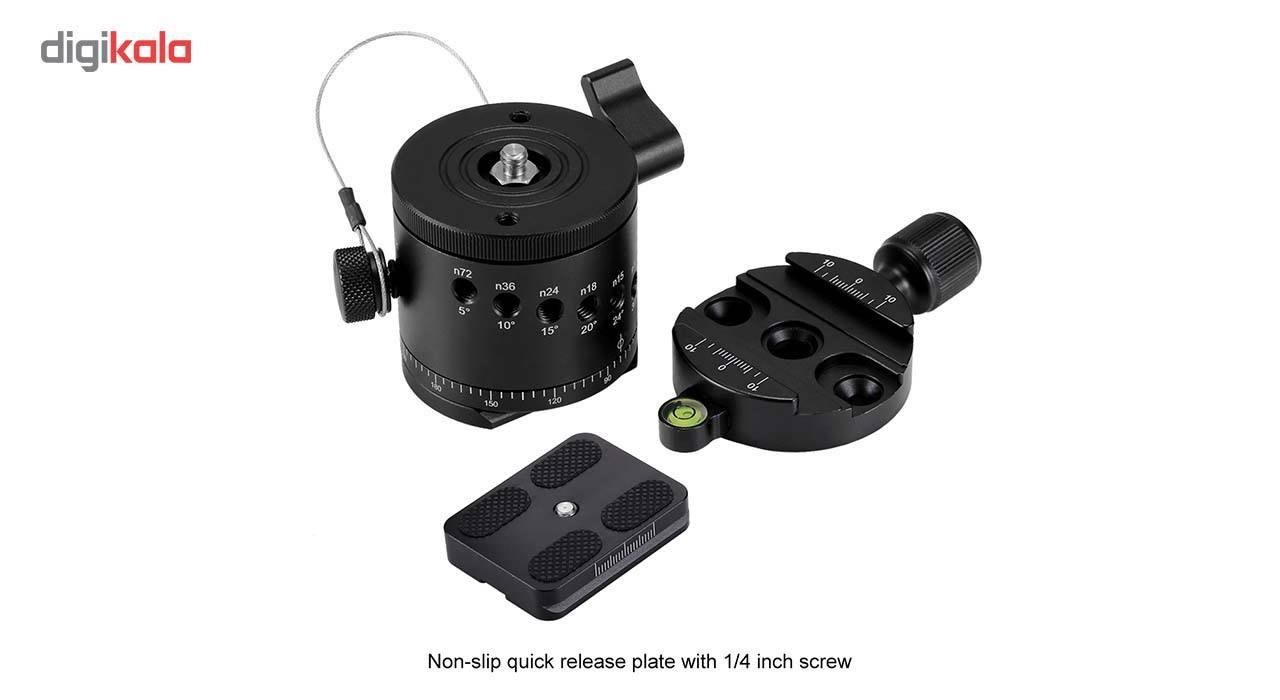 سر سه پایه بال هد پلوز مدل 360Degree مناسب برای دوربین های عکاسی main 1 5
