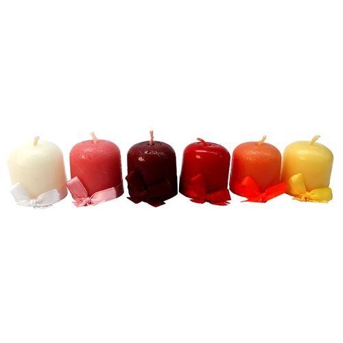 شمع استوانه ای مدل پاپیون دار بسته 6 عددی