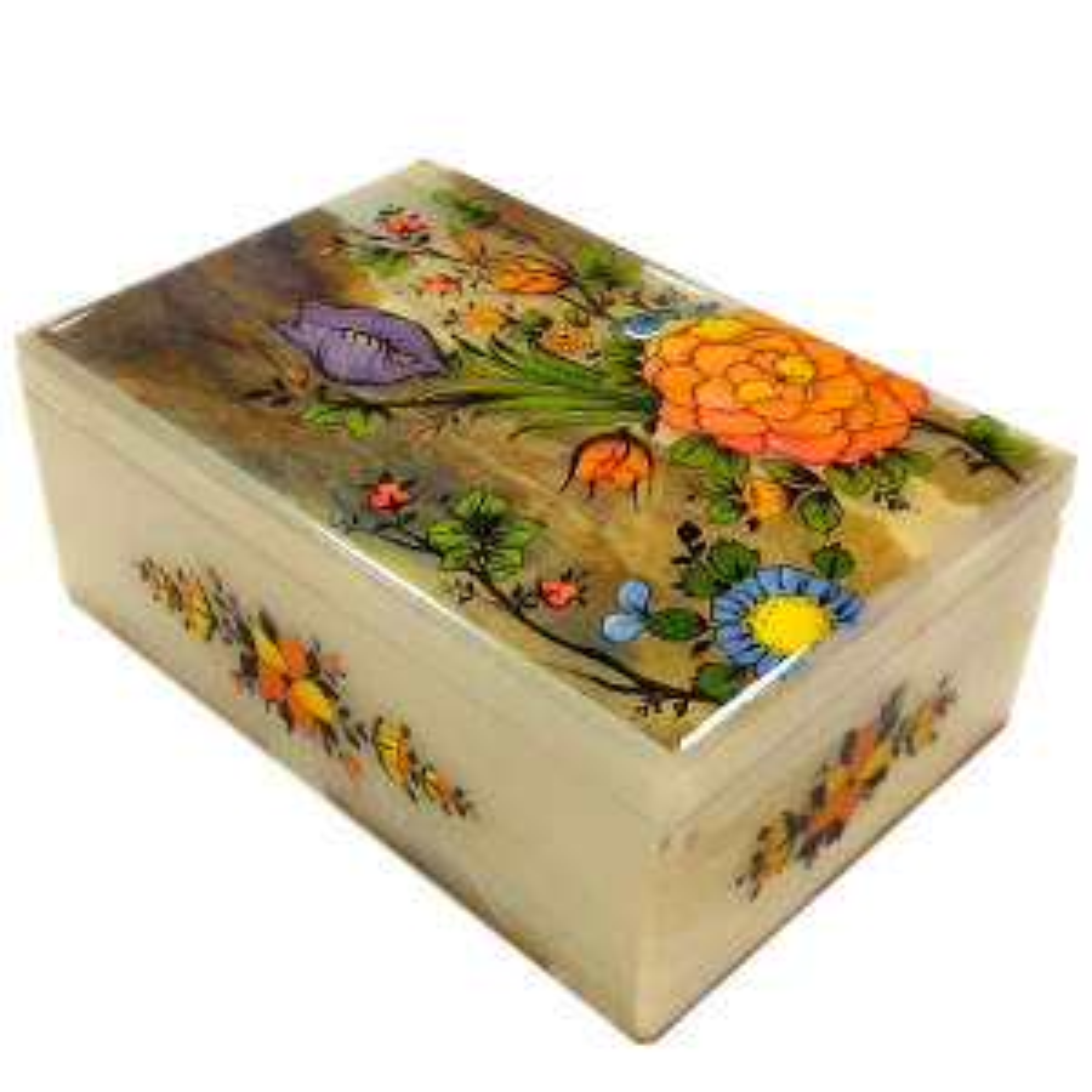 جعبه سنگی طرح گل و بوته کد 0099