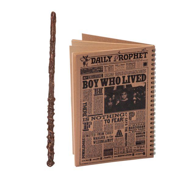 دفتر یادداشت بیگای استودیو مدل هری پااتر به همراه چوبدستی |