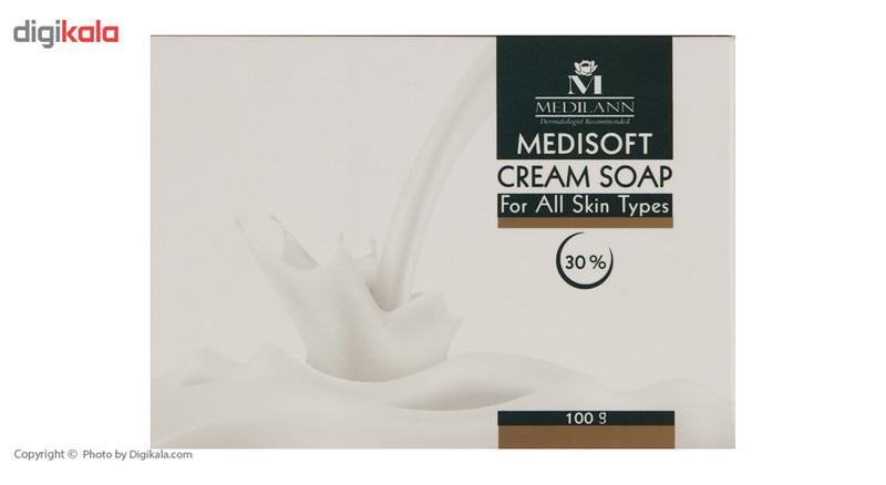 صابون کرمی مدیلن مدل Medisoft 30% مقدار 100 گرم