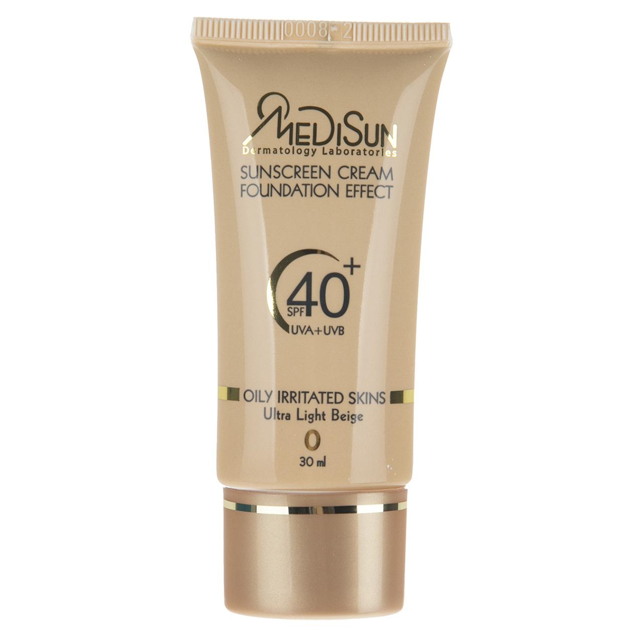 قیمت کرم ضد آفتاب مدیسان سری Oily Skin مدل Light Beige حجم 30 میلی لیتر