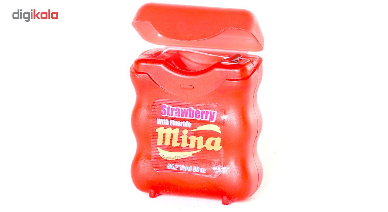 نخ دندان مینا مدل Strawberry Narrow main 1 2