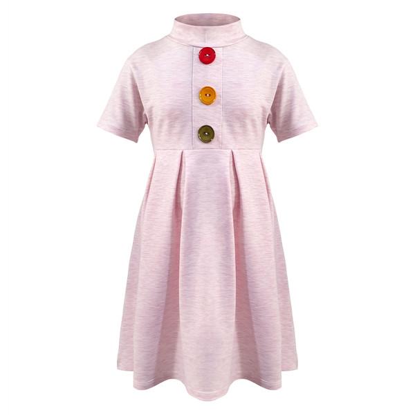 پیراهن دخترانه افراتین کد 0006 رنگ صورتی روشن