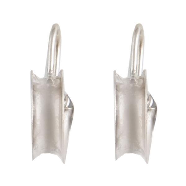 گوشواره نقره زنانه بازرگانی میلادی مدل مدرن GZN_238