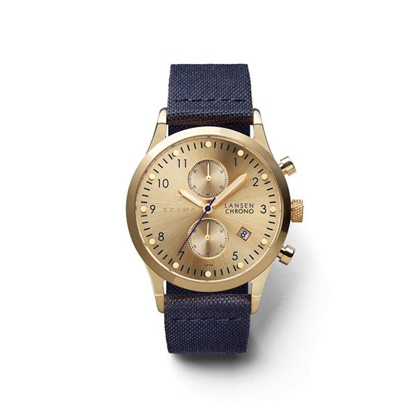 ساعت مچی عقربه ای تریوا مدل Gold Lansen chrono 4