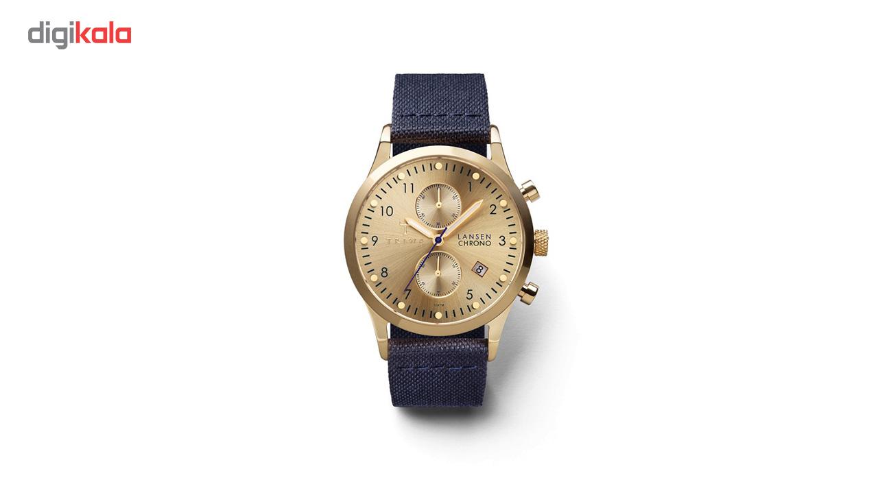 ساعت مچی عقربه ای تریوا مدل Gold Lansen chrono