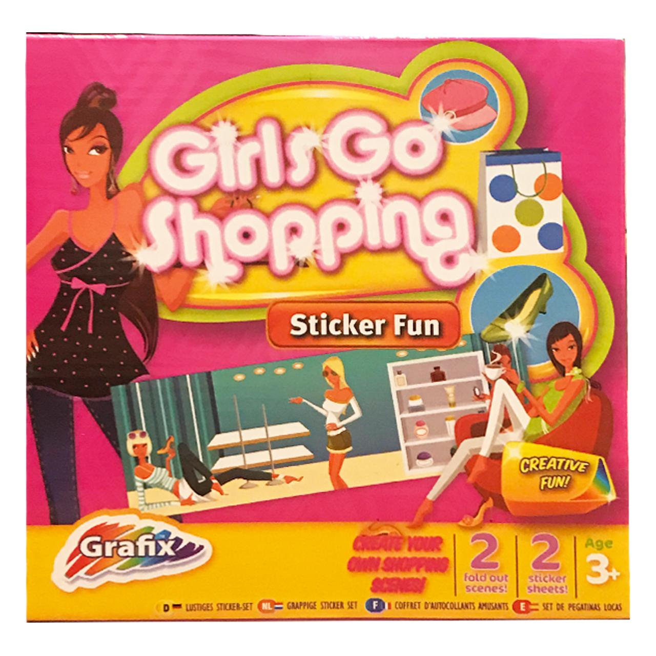 بازی آموزشی گرافیکس مدل Go Shopping Sticker Fun