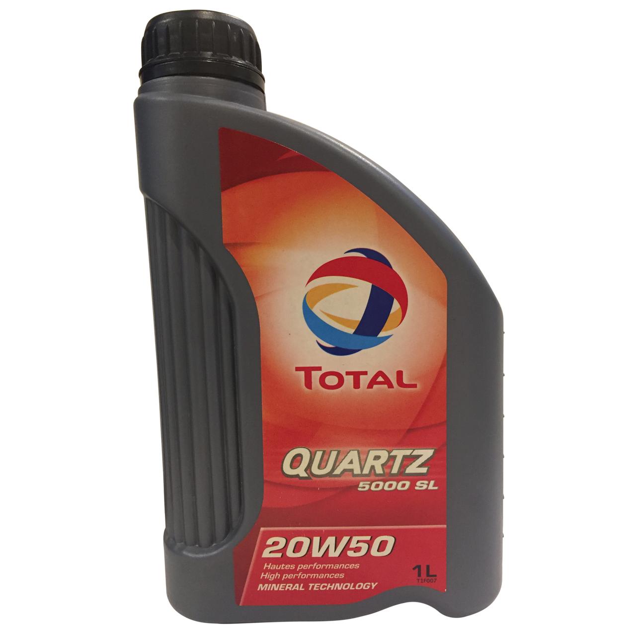 روغن موتور خودرو توتال مدل Quartz 5000 حجم 1 لیتر