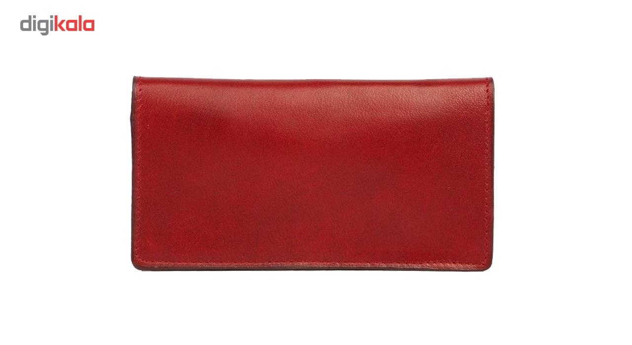 کیف پولچرم طبیعی چرم آرا مدل m001