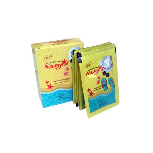 دستمال مرطوب نازگل مدل Sunscreen بسته 5 عددی