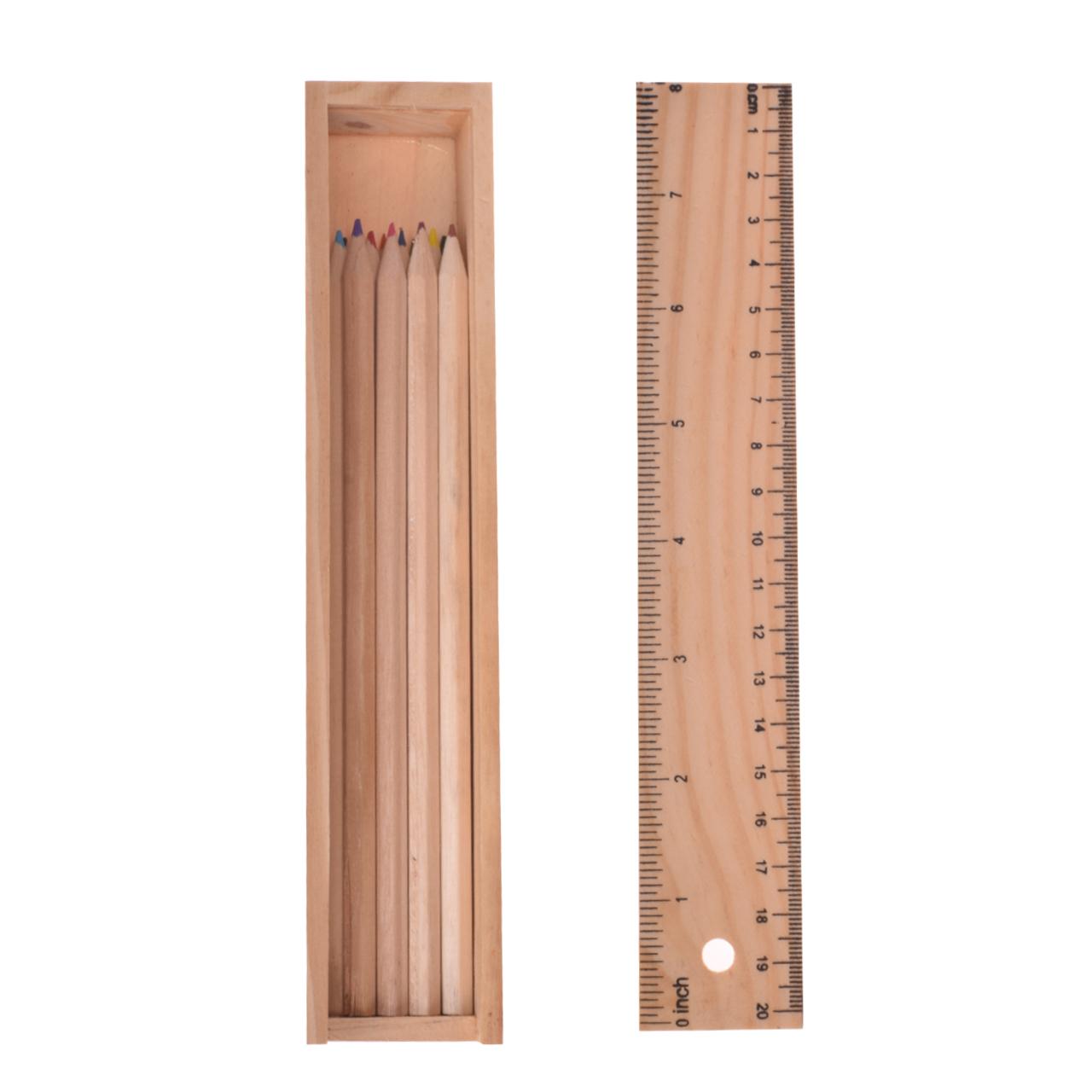 مداد رنگی 12 رنگ چوبی مدل مدل TR