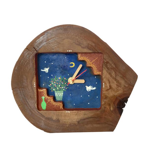 ساعت رومیزی چوبی مدل ch1