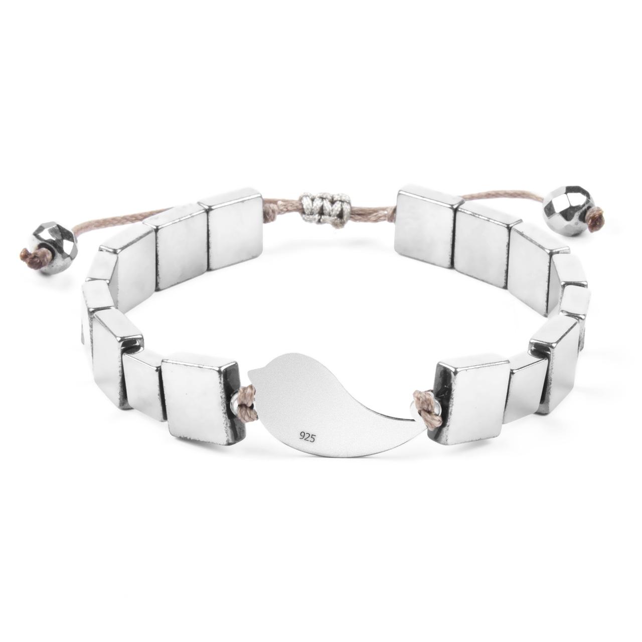 دستبند نقره ریسه گالری مدل Ri3-H1046S-Silver