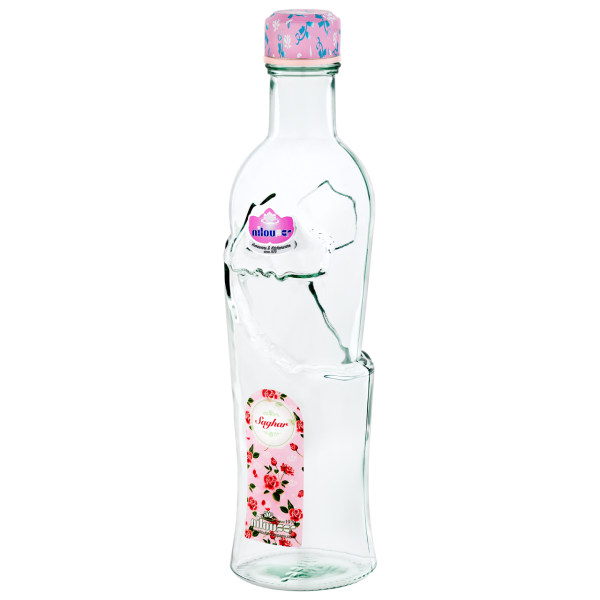 بطری آب نیلوفر مدل راکی گلدار