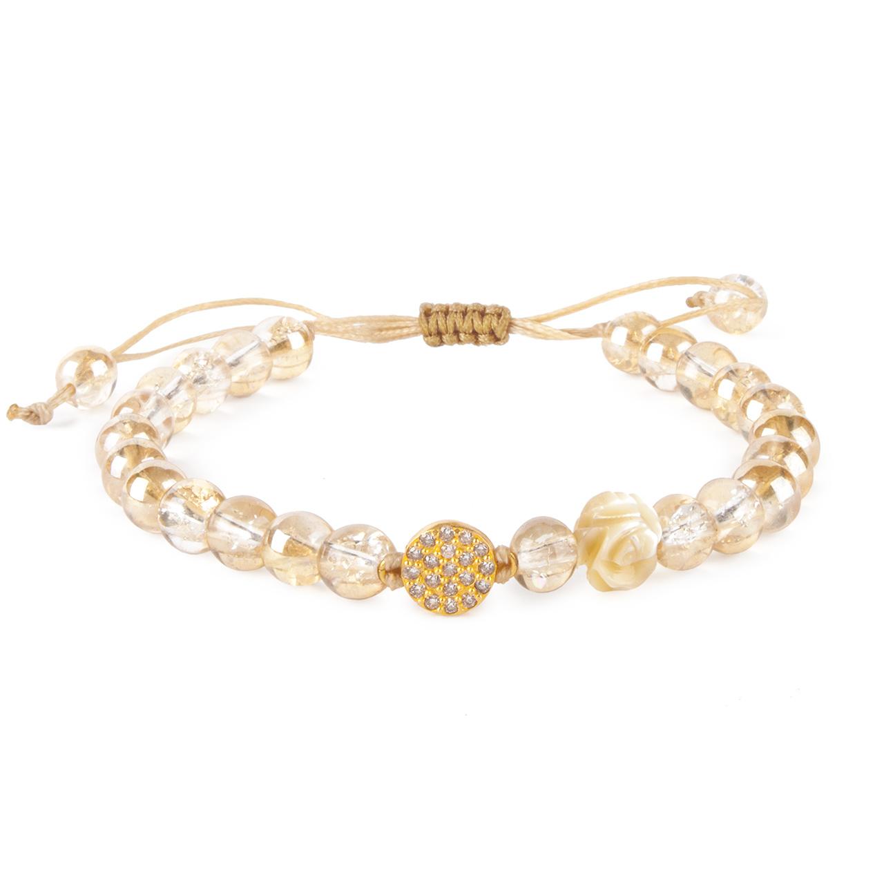 دستبند طلا 18 عیار زنانه ریسه گالری مدل Ri3-C1066T-Gold