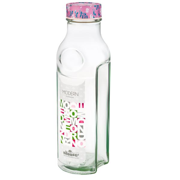 بطری آب نیلوفر مدل مدرن گلدار