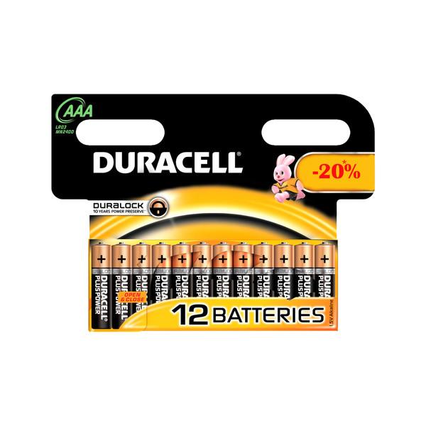 باتری نیم قلمی دوراسل مدل Duralock بسته 12 عددی