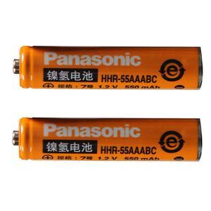 باتری نیم قلمی قابل شارژ پاناسونیک مدل HHR-55AAABC ظرفیت 550 میلی آمپر ساعت بسته 2 عددی