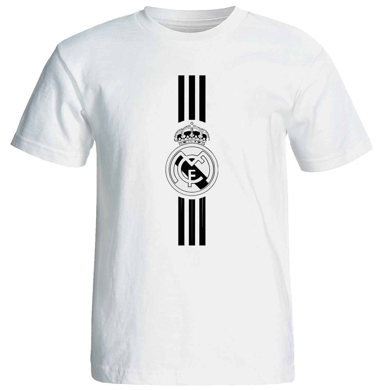 تی شرت آستین کوتاه مردانه طرح رئال مادرید کد 1497