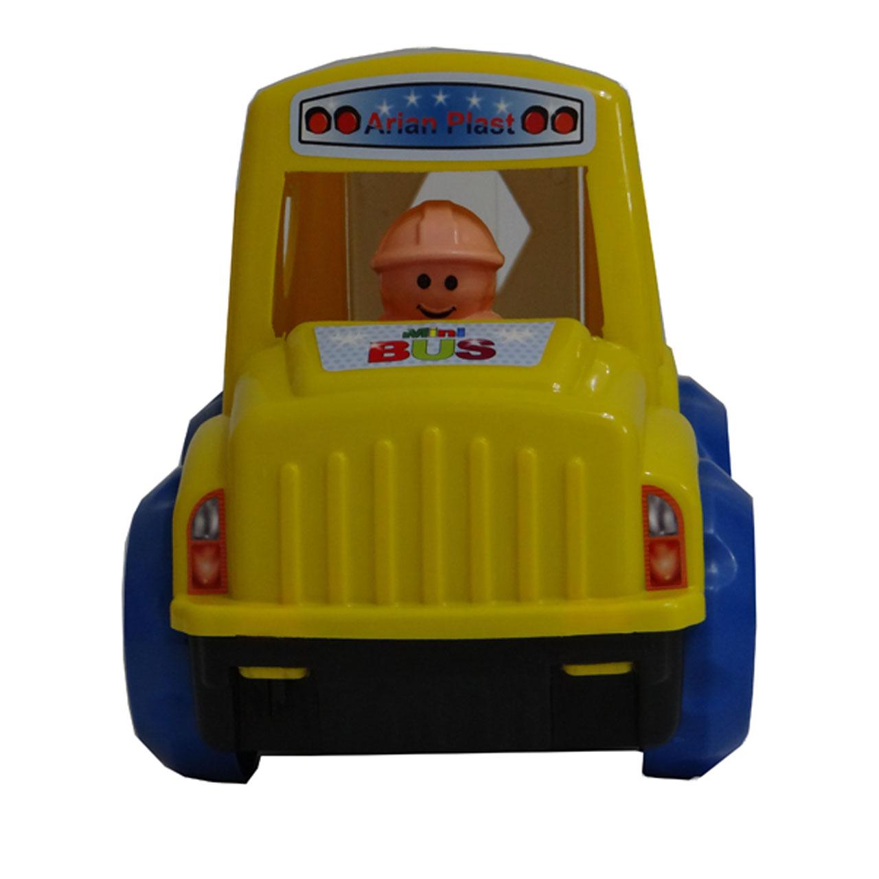ماشین بازی آرین پلاست مدل اتوبوس اشکال کد02