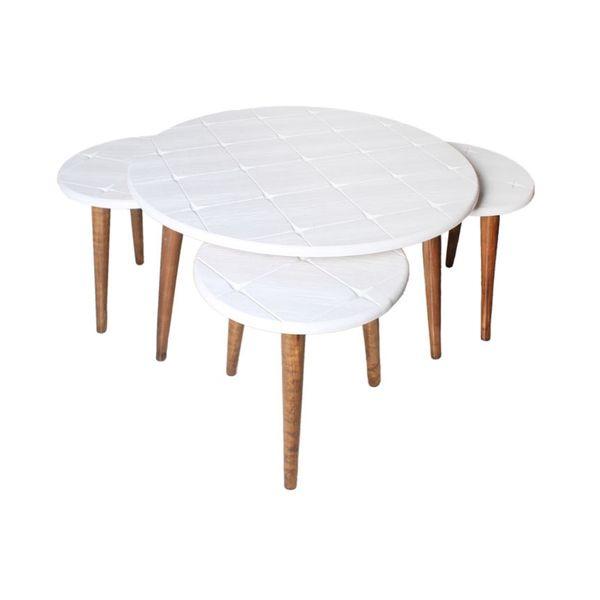 میز پذیرایی مدل سپیدار H101 مجموعه 4 عددی