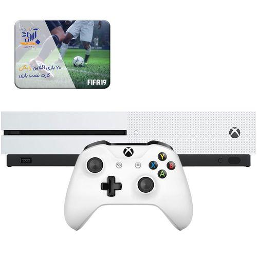 کنسول بازی مایکروسافت مدل Xbox One S ظرفیت 1 ترابایت بهمراه ۲۰ عدد بازی