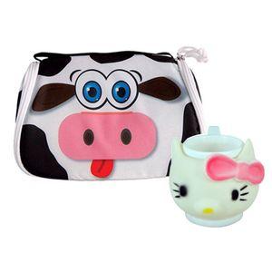 کیف نگهدارنده غذای کودک مدل گاو به همراه لیوان کودک کیتی