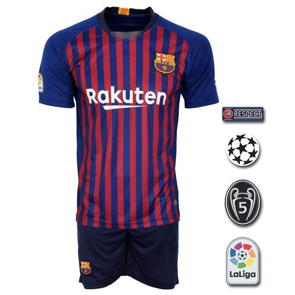 پیراهن و شورت ورزشی مدل بارسلونا Home18/19 به همراه تگ