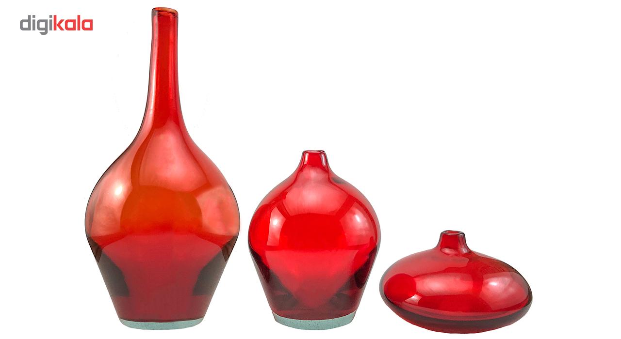 خرید                      گلدان سالونگ شفاف کد 344 مجموعه سه عددی