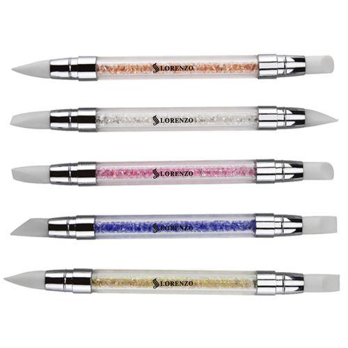 قلم طراحی ناخن سیلیکونی لورنزو بسته 5 عددی دو سر