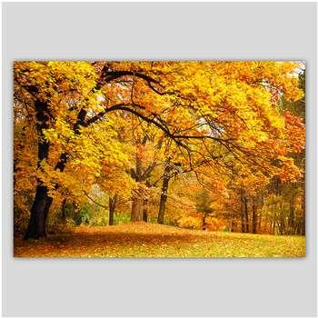 تابلو شاسی دیواری دکوگراف پاییز زرد کد 486