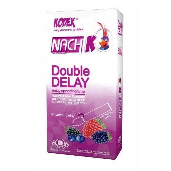 کاندوم تاخیری ناچ کودکس مدل Double Delay بسته 10عددی