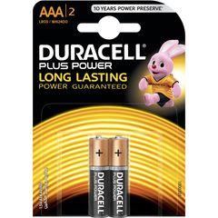 باتری نیم قلمی دوراسل مدل Plus Power Duralock بسته 2 عددی