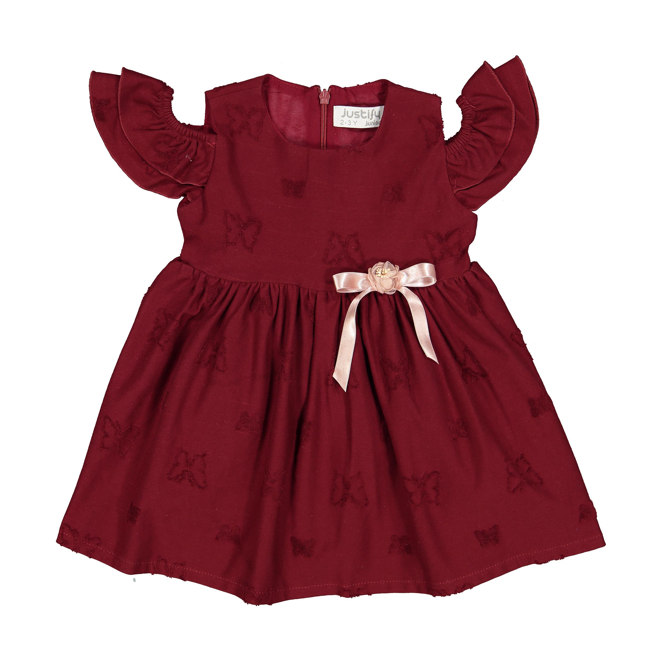پیراهن دخترانه جاستیفای جونیور مدل K0442055DO-MAROON