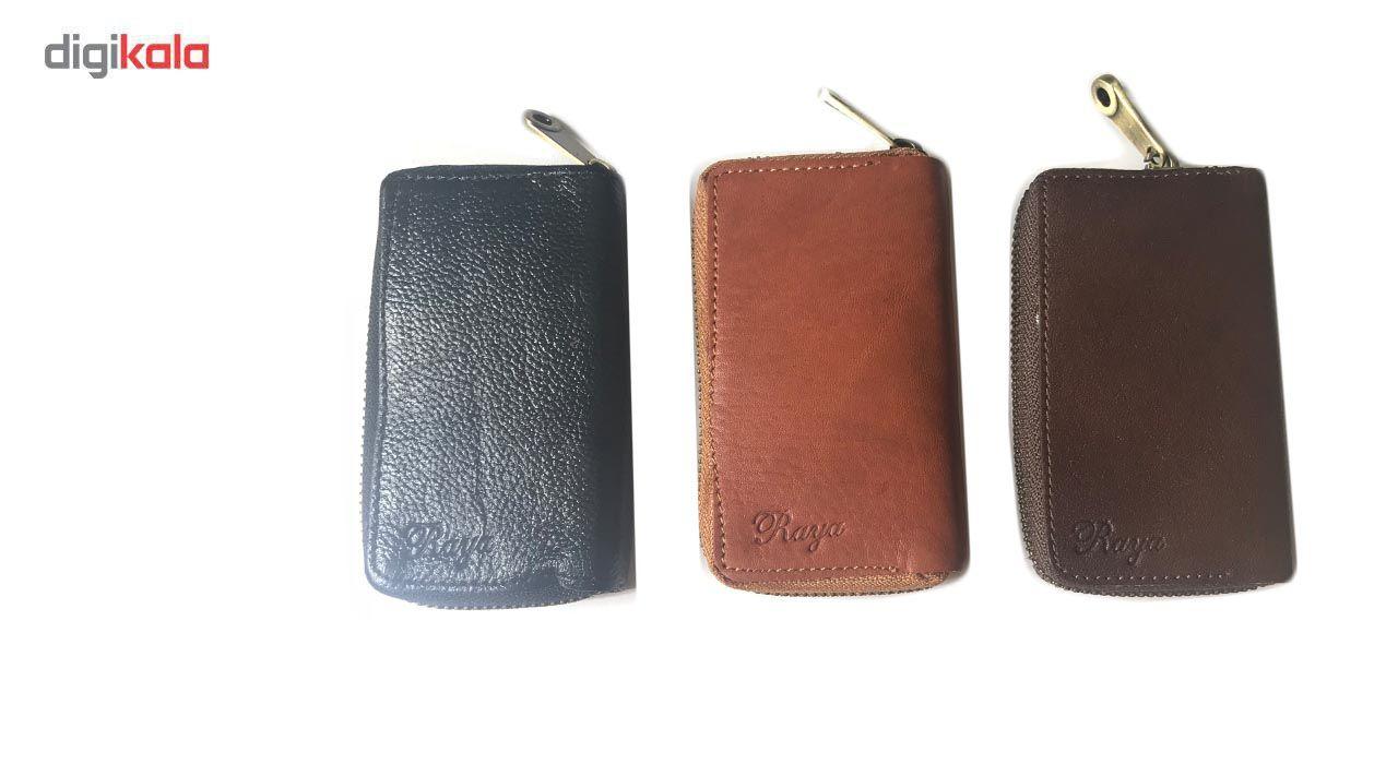 جاسوییچی چرم رایا مدل Zipper -  - 4