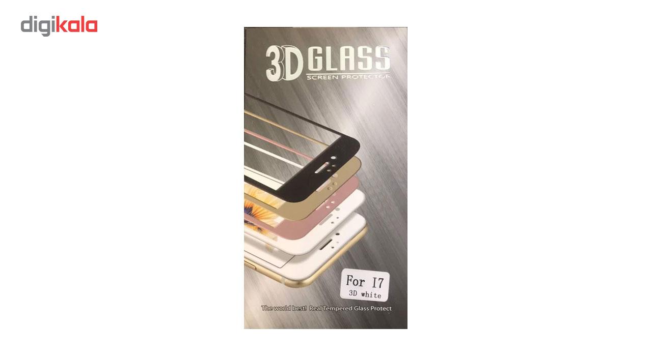 محافظ صفحه نمایش تمام چسب مدل 3D Tempered Glass مناسب برای گوشی موبایل اپل iPhone 7/8 main 1 3