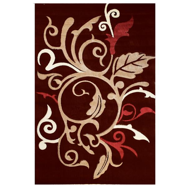 فرش ماشینی سهند کد C016.XO زمینه قهوه ای