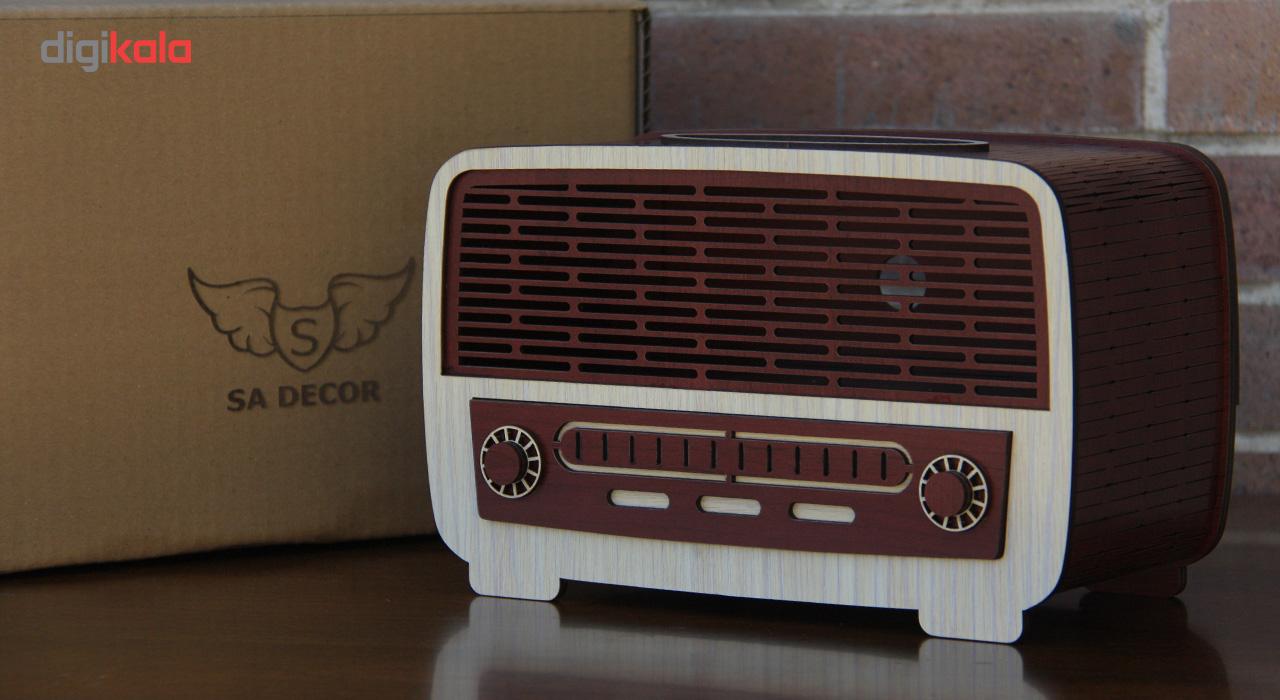 ست سطل و جا دستمال اس ای دکور مدل رادیو و اسپیکر main 1 8