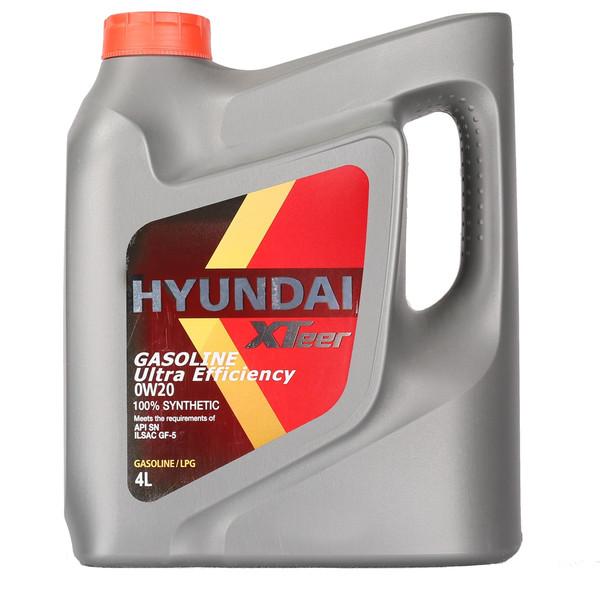 روغن موتور خودرو هیوندای اکستیر مدل 0W-20 ظرفیت 4 لیتر