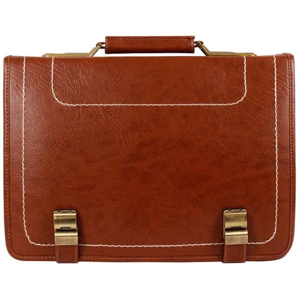 کیف اداری مردانه رویال چرم کد BF1-Brown |
