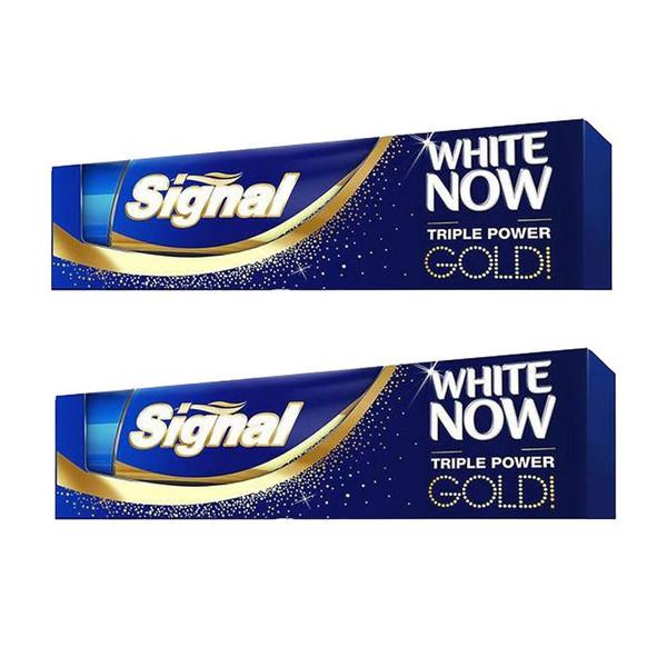 خمیر دندان سیگنال سری White Now مدل Gold حجم 100 میلیلیتر بسته 2 عددی