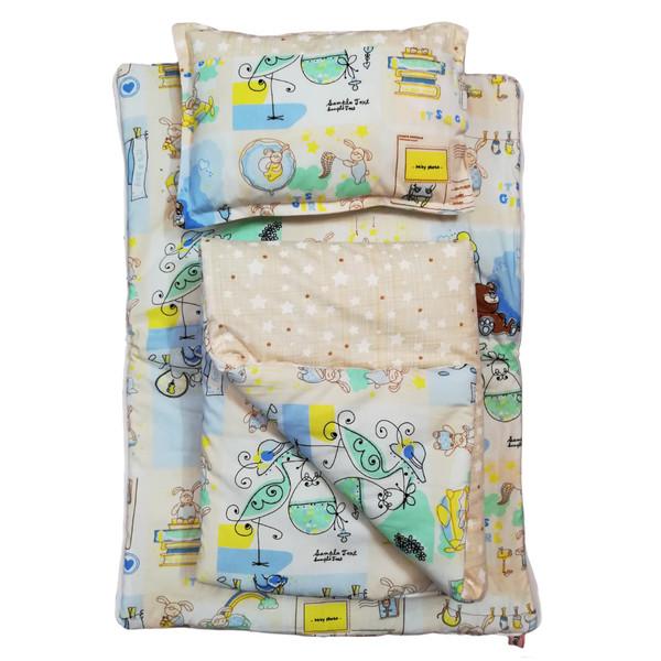 سرویس خواب نوزادی 3 تکه تاپ دوزانی مدل بیرلی بوی
