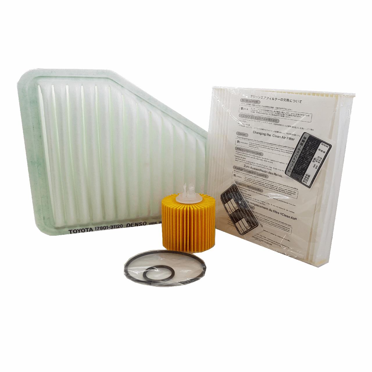 بسته فیلتر خودرو اطلس میکال مدل 3354 مناسب برای تویوتا آریون