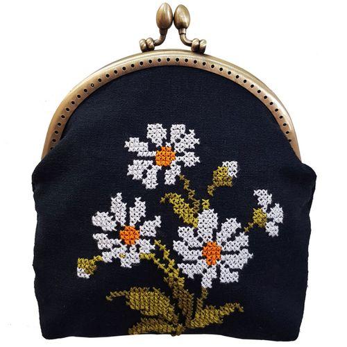 کیف رودوشی  زنانه دست ساز مدل گل بابونه