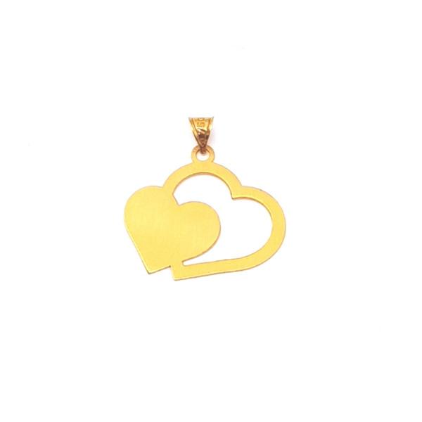 آویز گردنبند طلا 18 عیار بهگلد طرح قلب